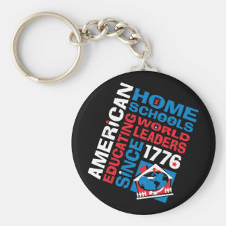 American Home Schools Basic Round Button Key Ring
