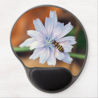 American Hover fly on Chicory Flower Gel Mousepad