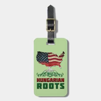 American Hungarian Roots Luggage Tag Template