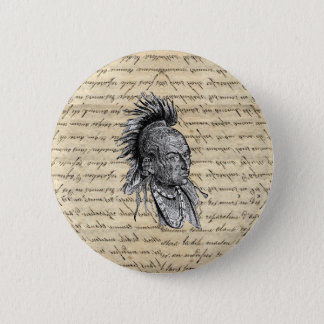 American Indian 6 Cm Round Badge