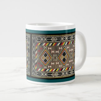 American Indian Arrow Blanket Collage Jumbo Mug