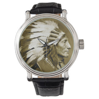 American Indian Chief (Faded Sepia) Watch