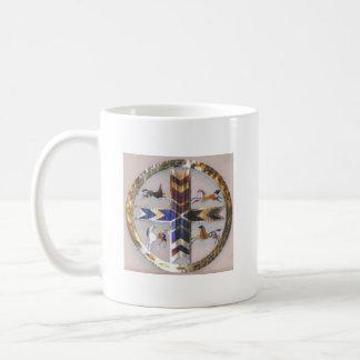 American Indian Four Directions Symbol Basic White Mug