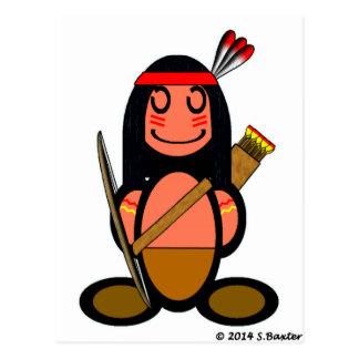 American Indian plain Post Card