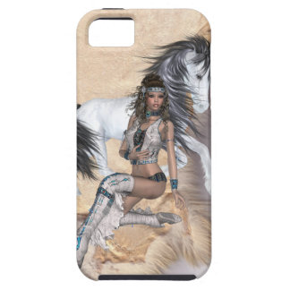 American Indian Princess and White Horse Tough iPhone 5 Case