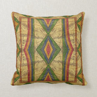 American Indian (Sioux) Parfleche style Pillow. Cushion