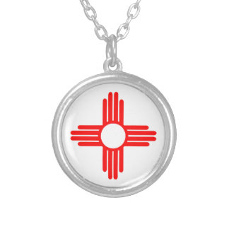 American Indian Sun Symbol Silver Plated Necklace