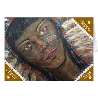 American Indian Xmas Card