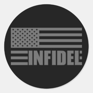 American Infidel Classic Round Sticker