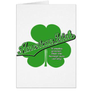 American Irish Greeting Card