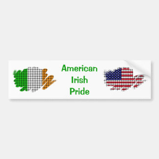 American  Irish Pride Bumper Sticker