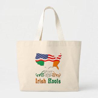 American Irish Roots Jumbo Tote Bag