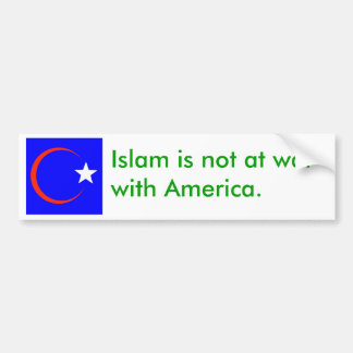 american islam 2 car bumper sticker