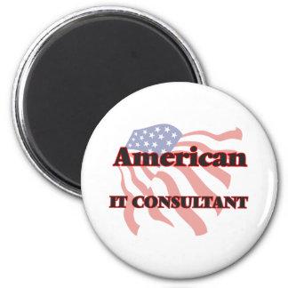 American It Consultant 6 Cm Round Magnet