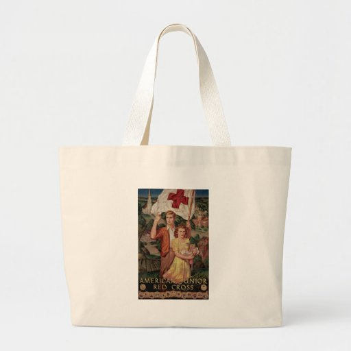 American Junior Red Cross Canvas Bags