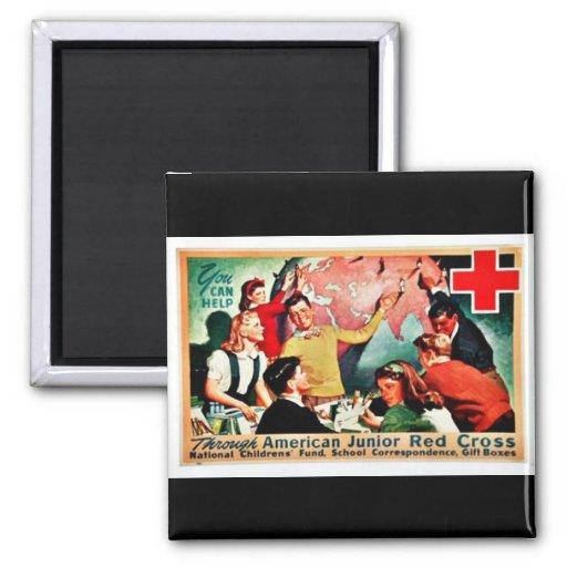 American Junior Red Cross Fridge Magnet