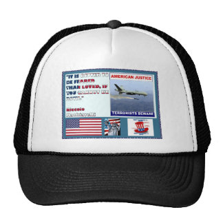American Justice Airforce Drone Terrorists Beware Hat