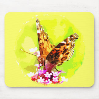 American Lady Butterfly Mouse Pad