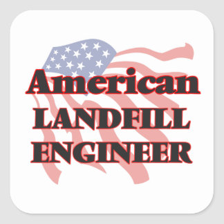 American Landfill Engineer Square Sticker