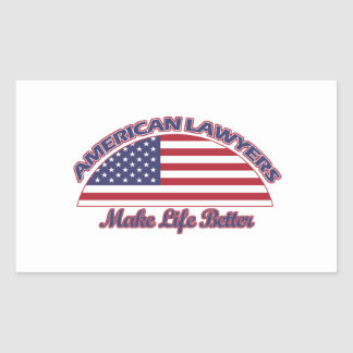 american Lawyers designs Rectangular Sticker
