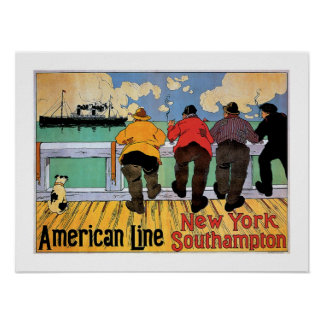 American Line Poster