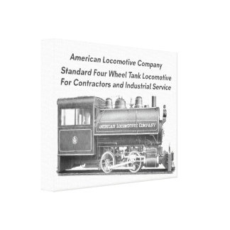 American Locomotive Company 0-4-0 T Canvas Print