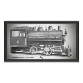 American Locomotive Company 0-4-0 T Poster
