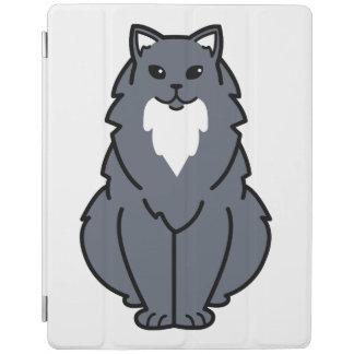 American Longhair Cat Cartoon iPad Cover