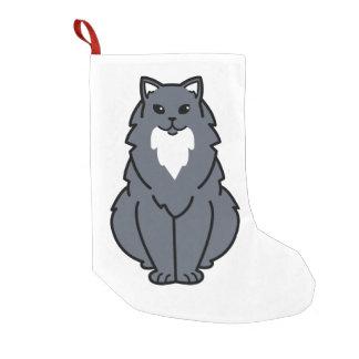 American Longhair Cat Cartoon Small Christmas Stocking
