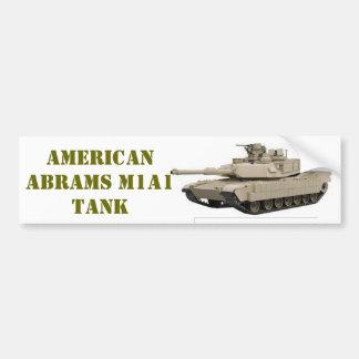 AMERICAN M1A1 ABRAMS  TANK BUMPER STICKER