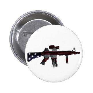 American M4 6 Cm Round Badge