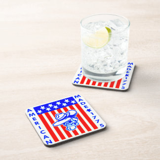 American Made 1775 Skull Flag Soldier Coaster
