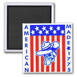 American Made 1775 Skull Flag Soldier Magnet