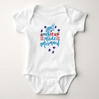 American Made Mermaid. Cute Sayings Baby Bodysuit