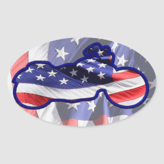 American Made Oval Sticker