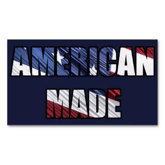 American Made Patriotic Red White and Blue US Flag Magnetic Business Cards