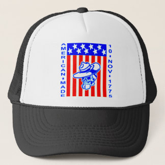 American Made Skull Flag 10 Nov 1775 Trucker Hat
