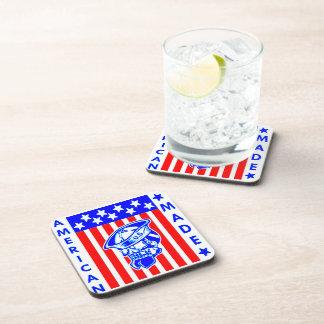 American Made Skull Flag Sailor Coaster