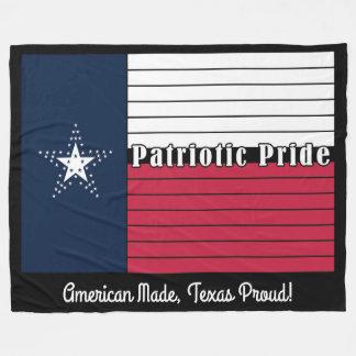 American Made, Texas Proud! Fleece Blanket