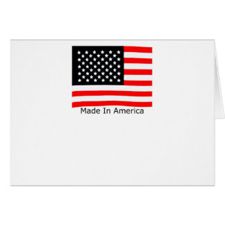 American Made With USA Flag Cards