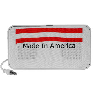 American  Made With USA Flag Travel Speakers