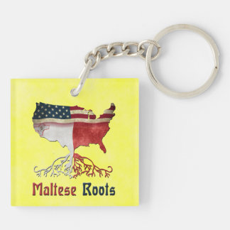 American Maltese Roots Keyring