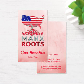 American Manx Roots Business Cards