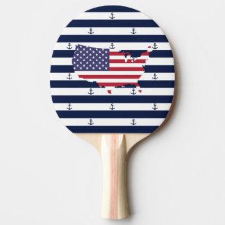 American map flag   nautical stripes pattern