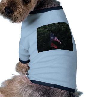 American Marines Flag Pet T Shirt