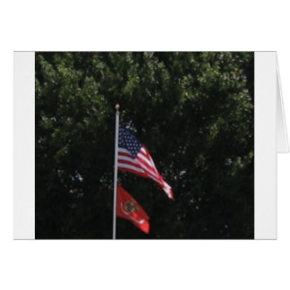 American Marines Flag Greeting Card
