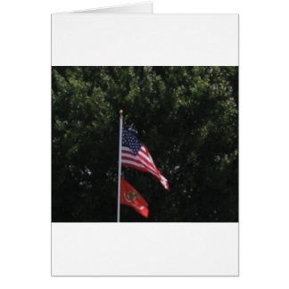 American Marines Flag Greeting Cards