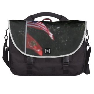 American & Marines Flag Laptop Bag