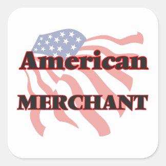 American Merchant Square Sticker