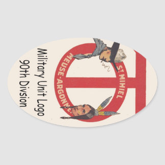 AMerican Military Unit Logo 90th Division Stickers